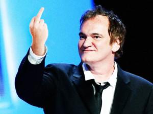 quentin tarantino swearing middle finger flipping the bird flip mad